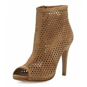 PEDRO GARCIA Perforated Open Toe Booties
